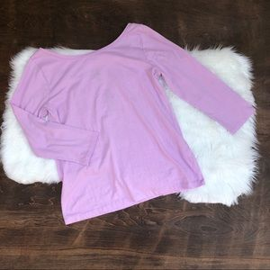 J Crew scoop ballet t blouse top lilac Large NWT